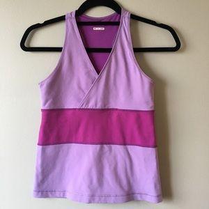 2/$30 Lululemon pink/purple racerback tank top